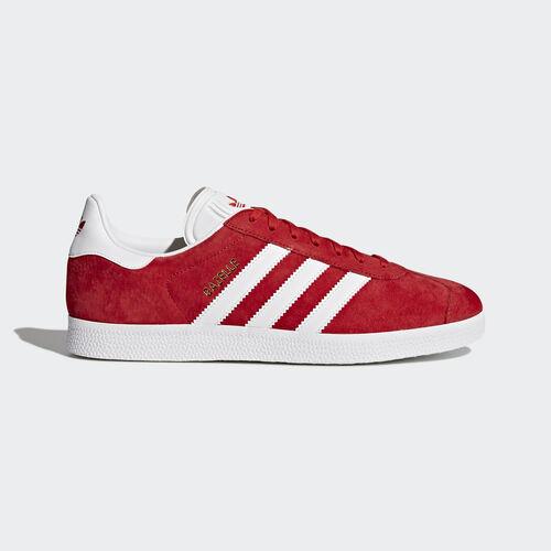 adidas - Gazelle Shoes Scarlet/Footwear White/Gold Metallic S76228