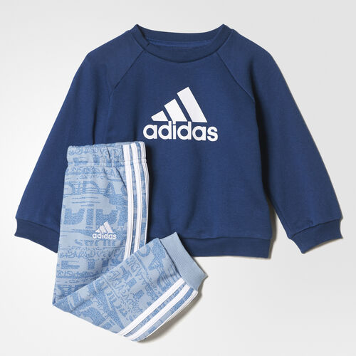 adidas - French Terry Jogger Set Tactile Blue /Mystery Blue /White CE9625