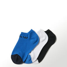 adidas - Trefoil Liner Socks 3 Pairs White / Bluebird / Black F79668