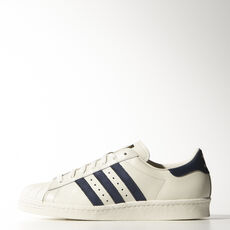 adidas - Superstar 80s Vintage Deluxe Vintage White  / Collegiate Navy / Off White B25964
