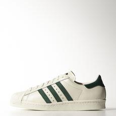 adidas - Superstar 80s Vintage Deluxe Vintage White  / Collegiate Green / Off White B35981