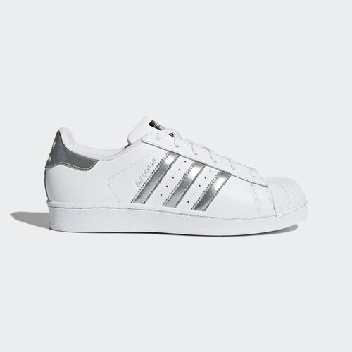 adidas - Superstar Shoes White/Silver Metallic/Core Black AQ3091