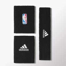 adidas - NBA handledsband plus pannband White / Black G87965