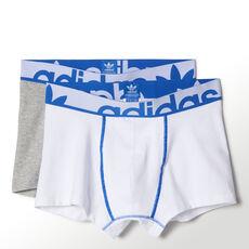 adidas - Boxerkalsonger i trikå Medium Grey Heather / White M30585