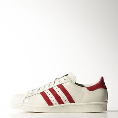 adidas - Superstar 80s Vintage Deluxe Vintage White  / Scarlet / Off White B35982
