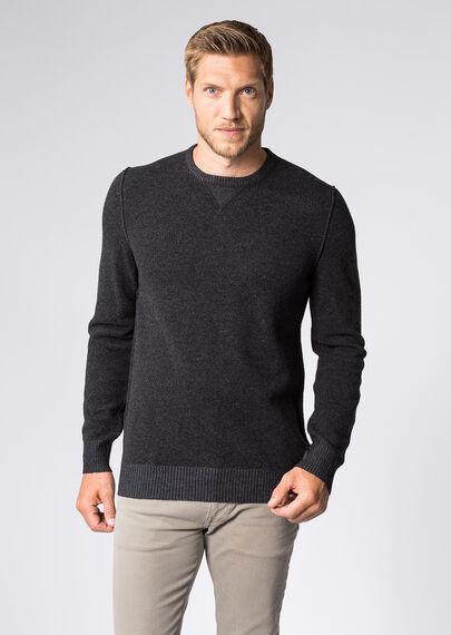 sweater dark grey melange. Black Bedroom Furniture Sets. Home Design Ideas