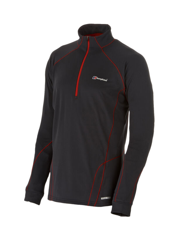 Men's Thermal Long Sleeved Zip Neck Baselayer