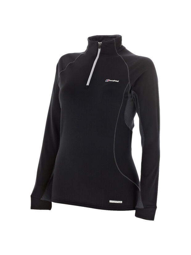 Women's Thermal Long Sleeve Zip Neck