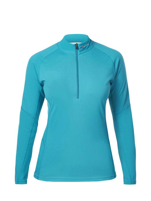 Women's Long Sleeve Zip Neck Tech T-Shirt