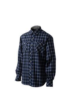 ウールプレーンチェックロングスリーブシャツ