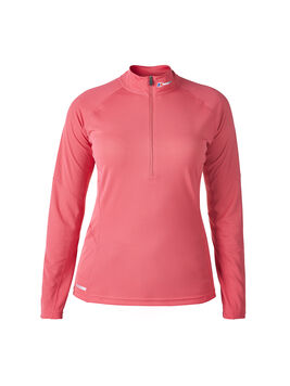 Women's Long Sleeve Zip Neck Tech T-Shirt