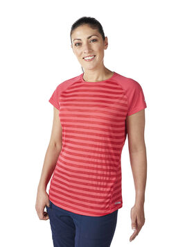 Women's Striped Short Sleeve Basecrew