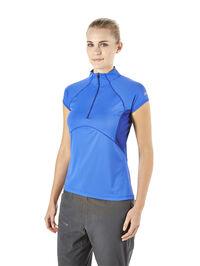 Women's Vapour Short-Sleeve Zip-Neck T-Shirt