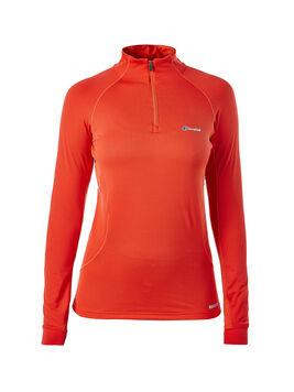 Women's Thermal Long Sleeve Zip Neck