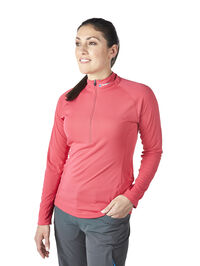 Women's Tech Tee Long Sleeve Zip Neck