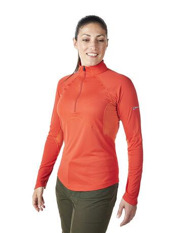 Women's Vapour Long Sleeve Zip Neck T-Shirt