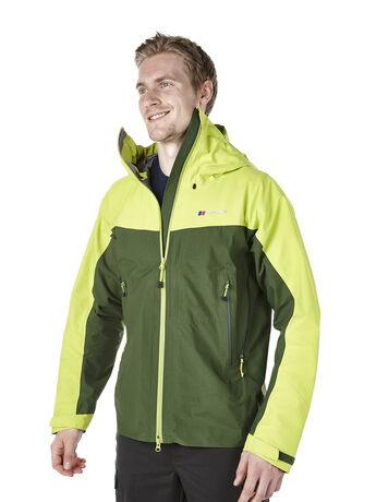 Hybrid men's waterproof jacket