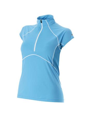 Women's Vapour Light Short Sleeve Zip Neck