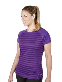 Women's Stripe Short Sleeve Crew Baselayer