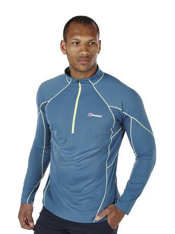 Men's Vapour Long Sleeve Zip Neck T-Shirt