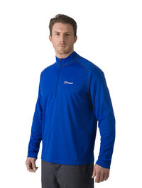 Men's Long Sleeved Zip Neck Tech Tee