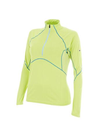 Women's Vapour Long-Sleeve Zip-Neck T-Shirt