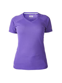 Women's Short Sleeved V Neck Tech T-Shirt