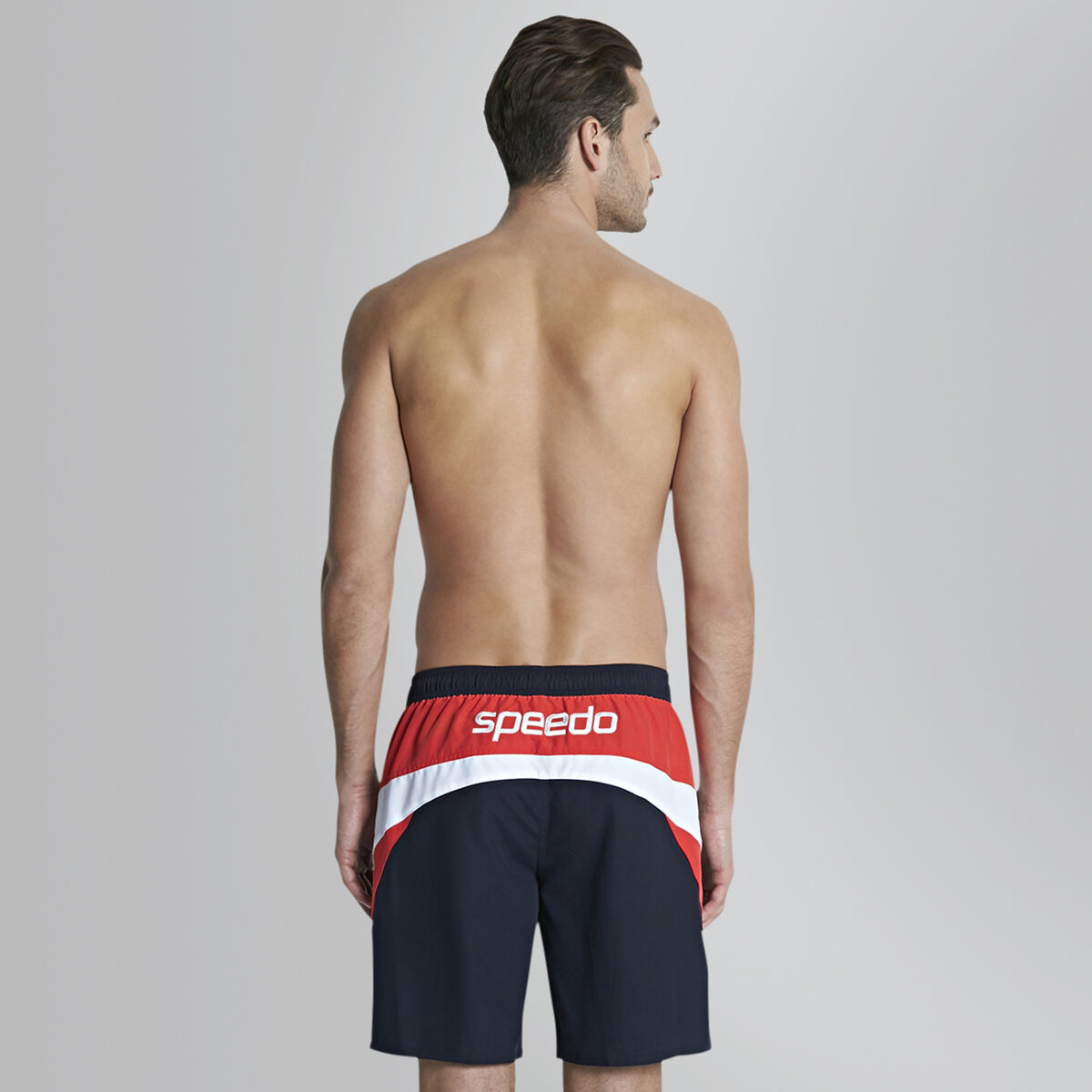 "Logo Yoke Splice 18"" Swim Short"