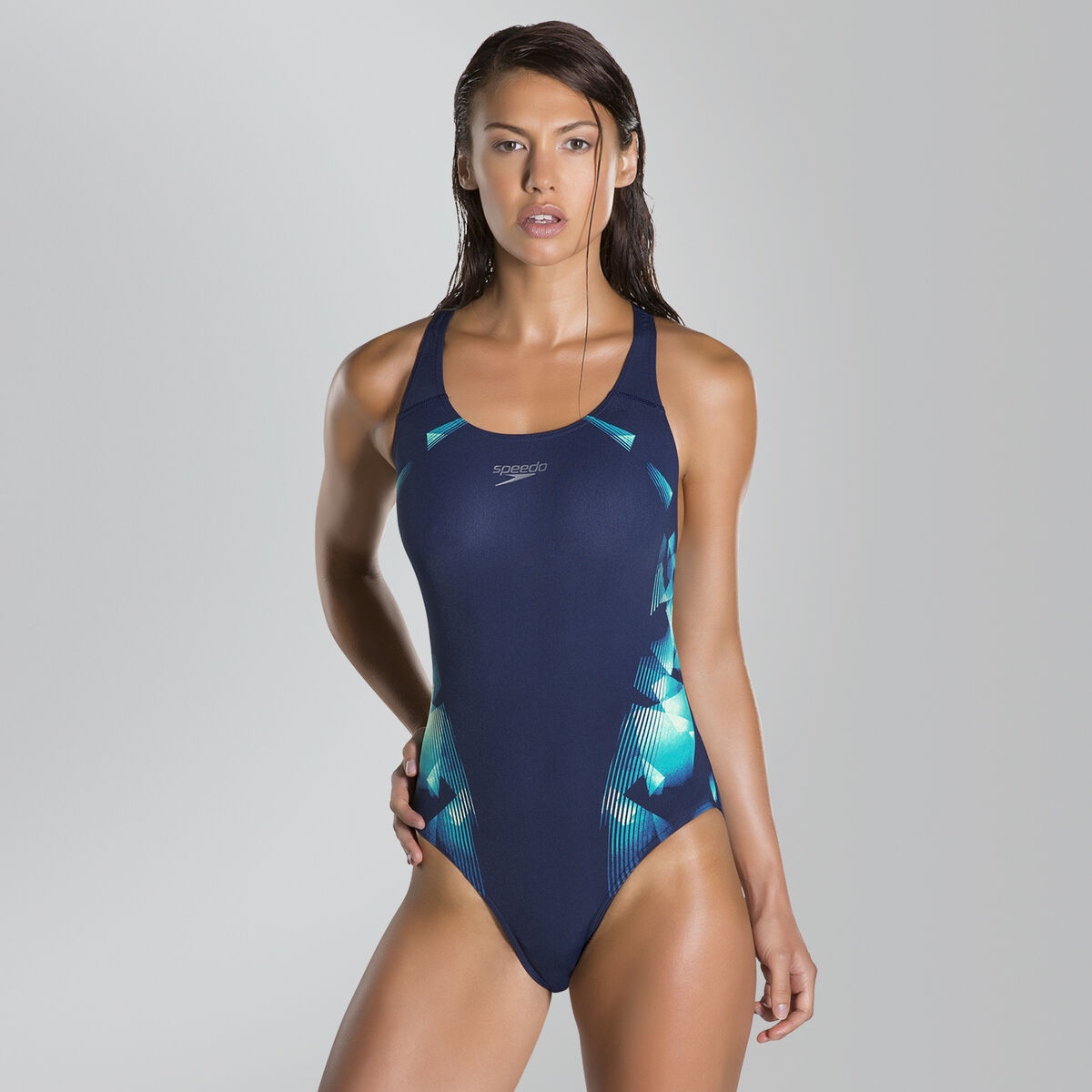 Cosmic Point Placement Powerback Swimsuit