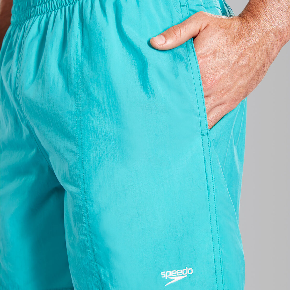 "Solid Leisure 16"" Swim Shorts"