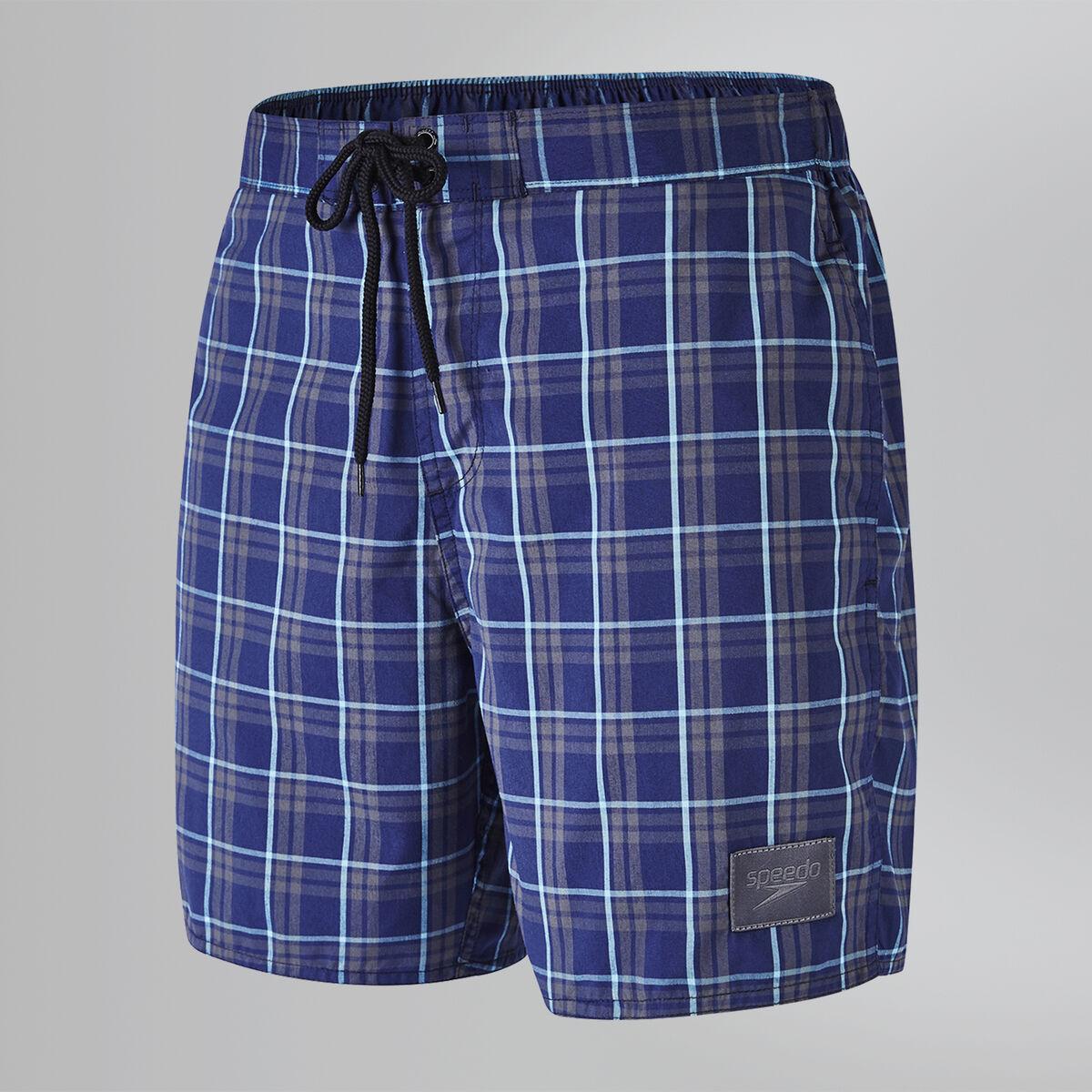 "Check Leisure 16"" Swim Shorts"