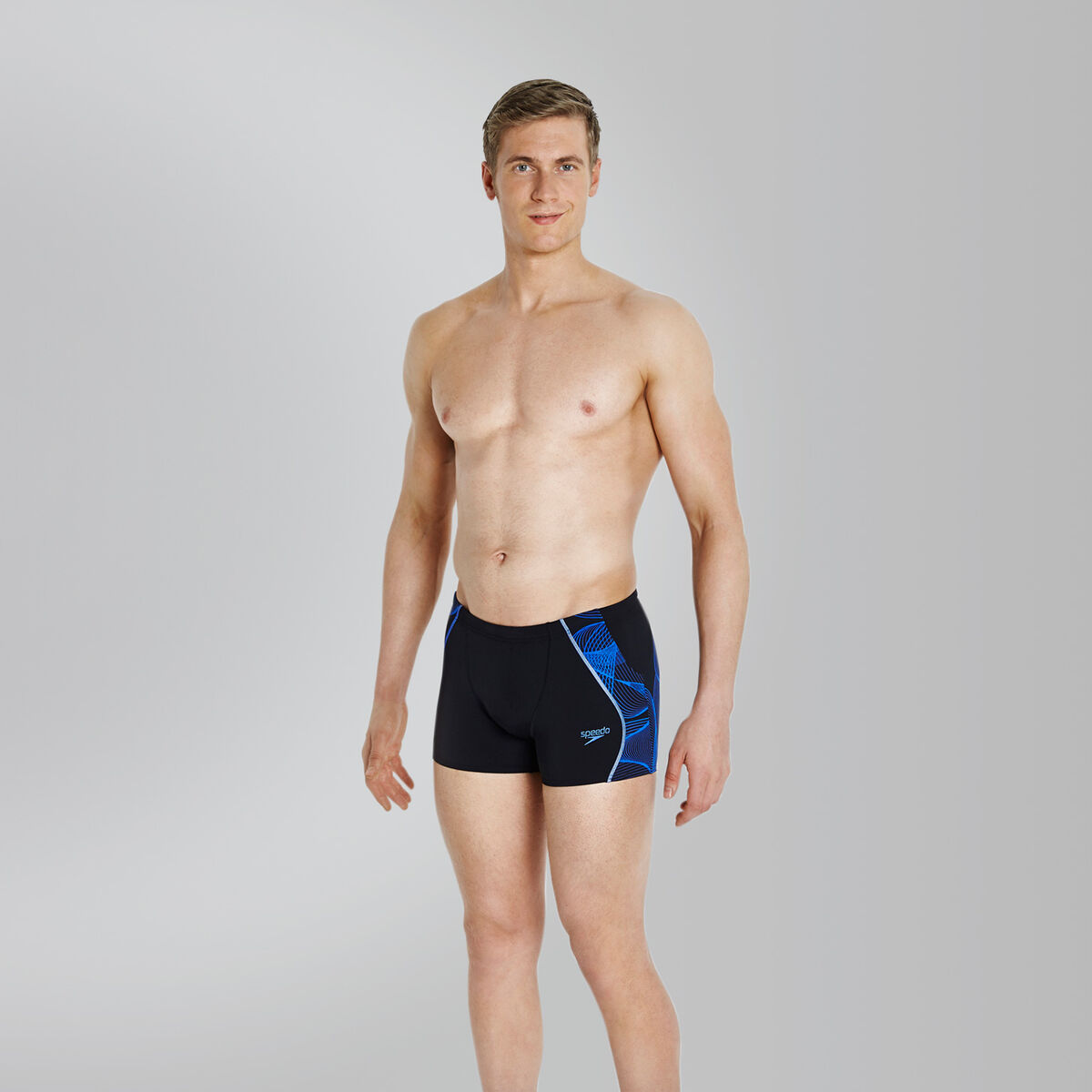 Men's Speedo Fit Printed Splice Aquashort