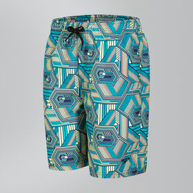 "Stripe Pop Printed Leisure 17"" Swim Shorts"