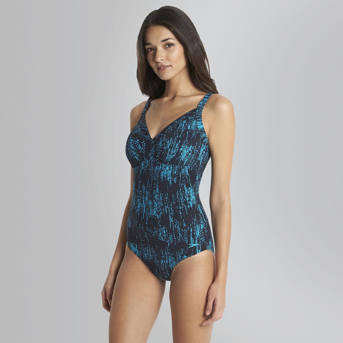 Sculpture Printed Watergem Adjustable Swimsuit