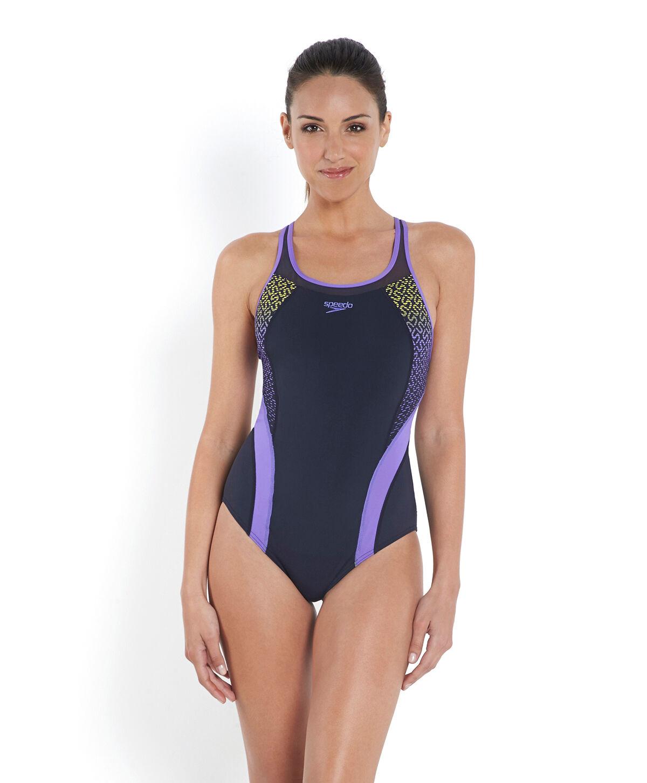 Women's Speedo Fit Body Positioning Kickback Swimsuit