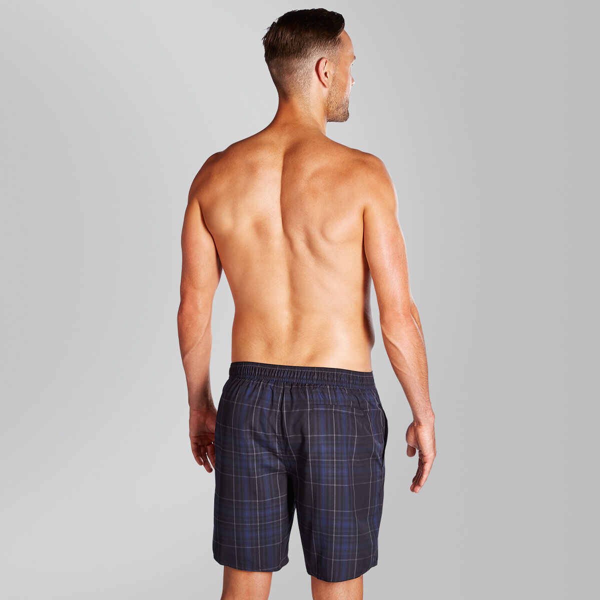 "Check Leisure 18"" Swim Shorts"