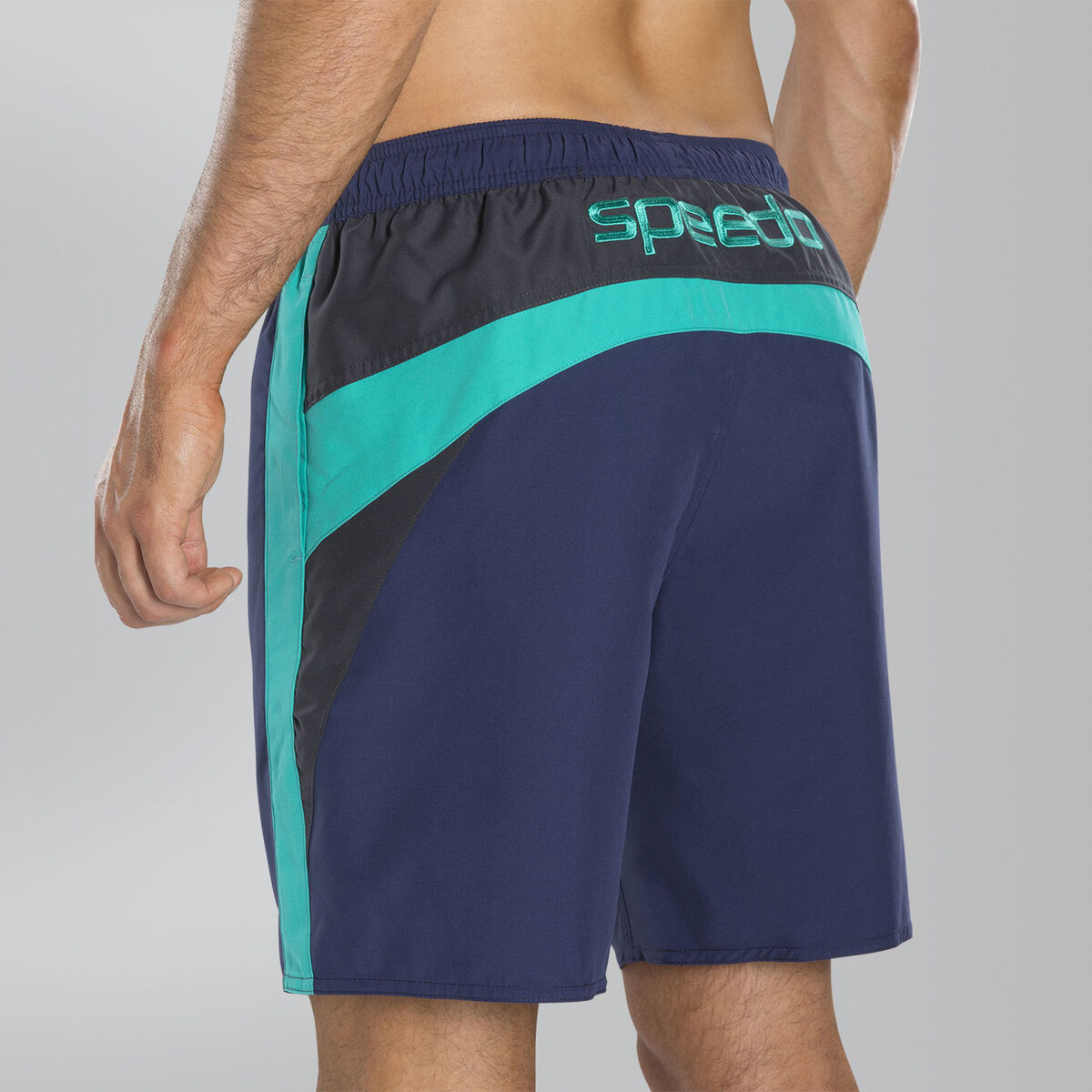 "Logo Yoke Splice 18"" Swim Shorts"