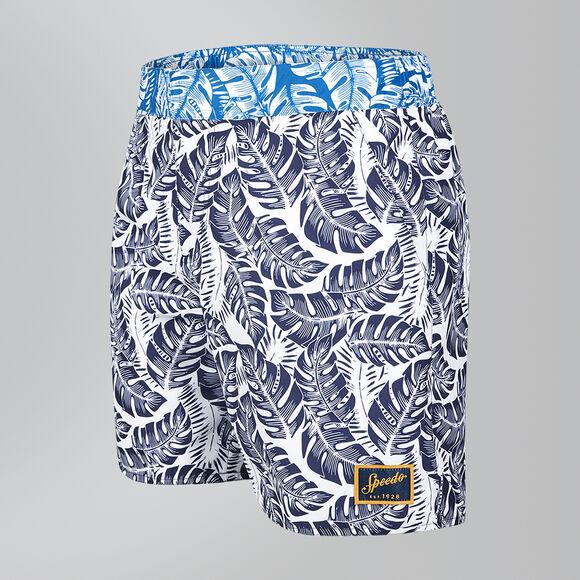 "Vintage Printed 16"" Swim Shorts"
