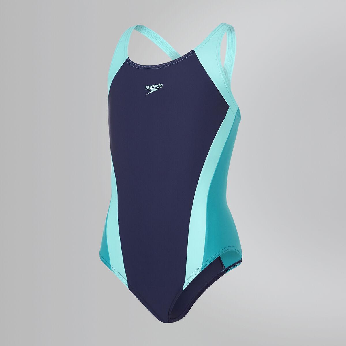 Contrast Panel Splashback Swimsuit