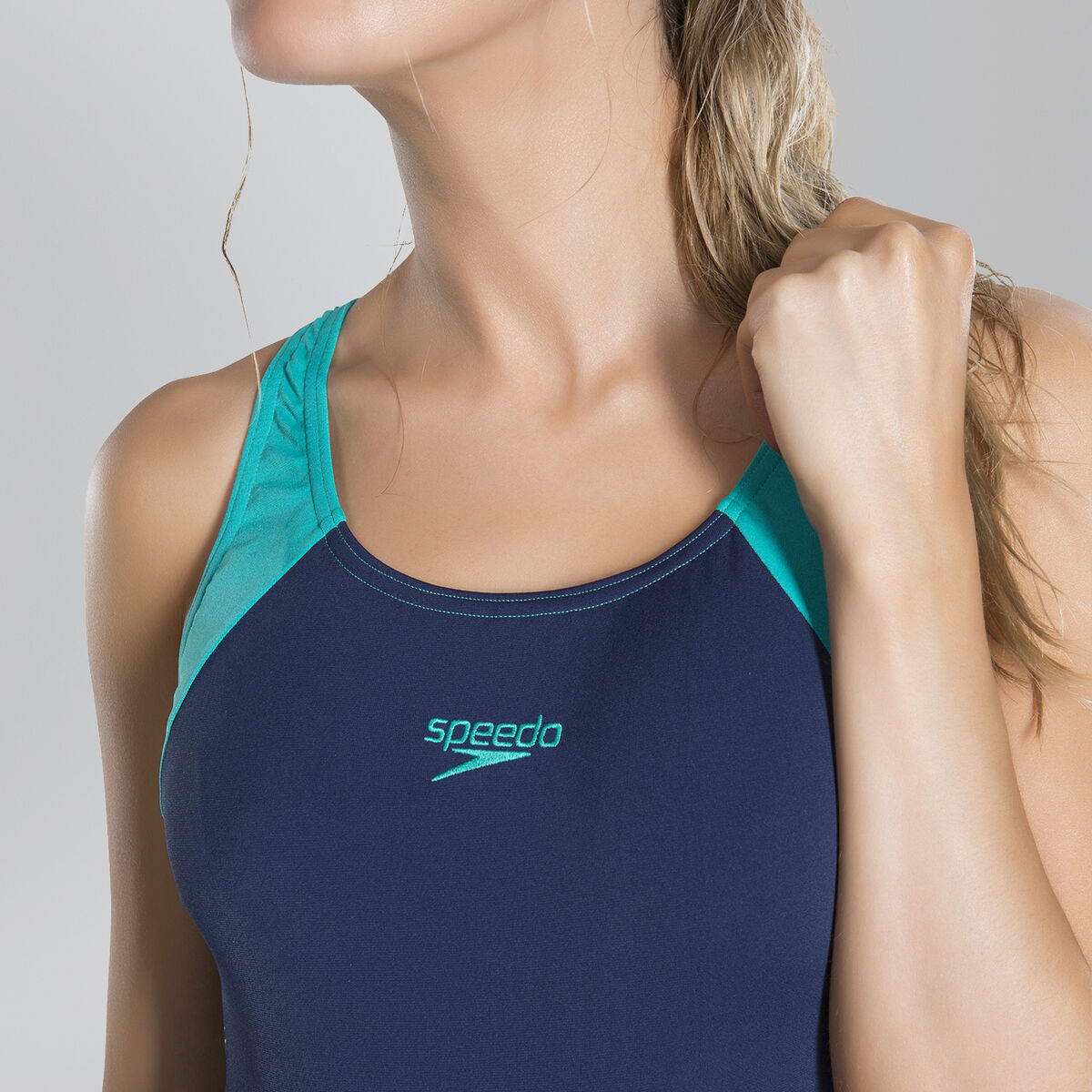 Boom Splice Racerback Swimsuit