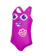 Girls' Bamboo Applique Swimsuit