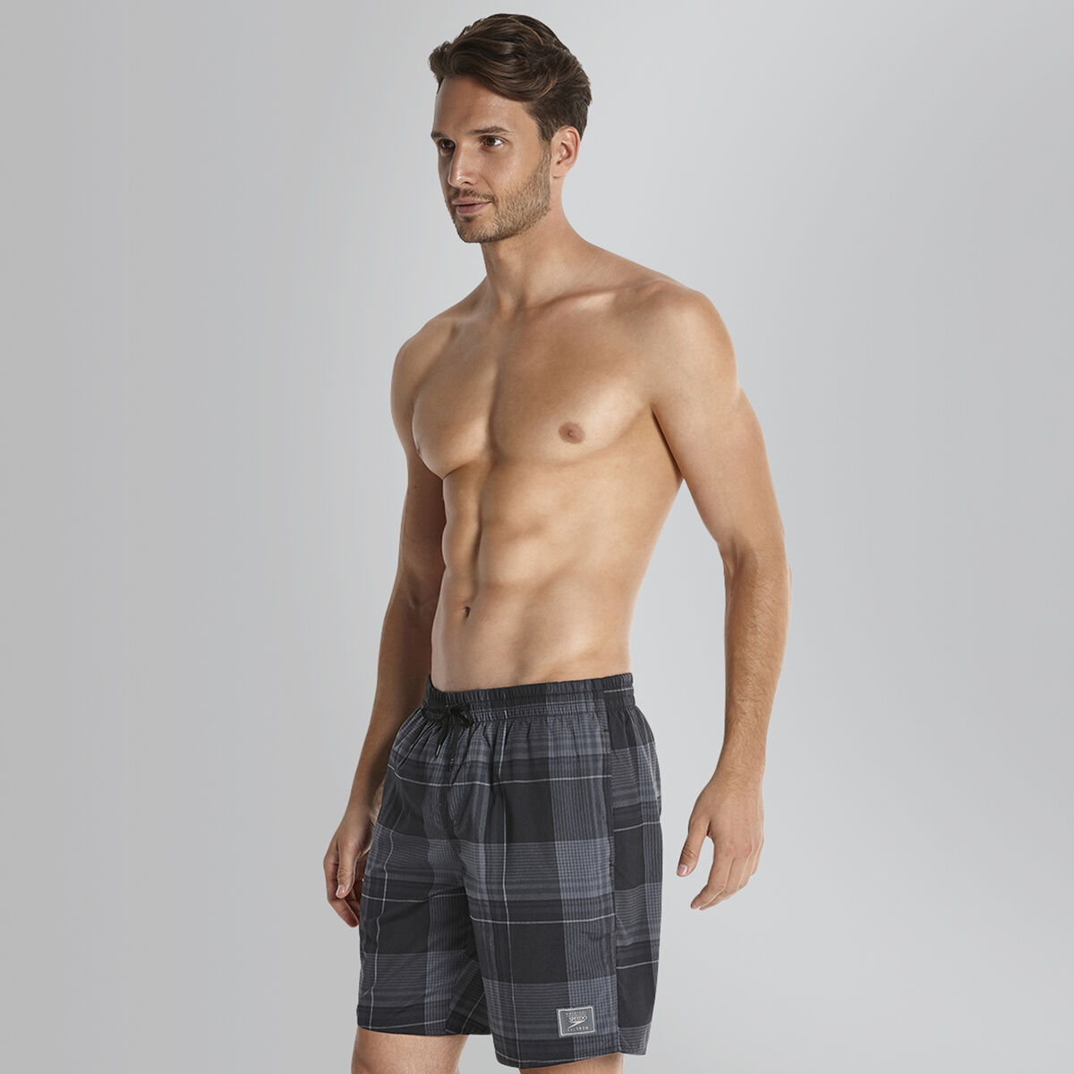Checked Leisure Swim Short