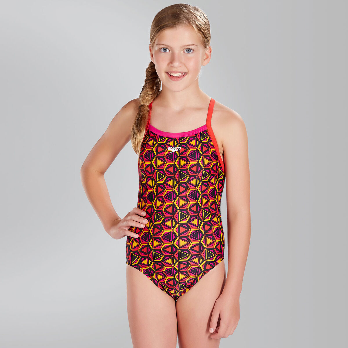 Pattern Pop Allover Thinstrap Crossback Swimsuit Swimsuit