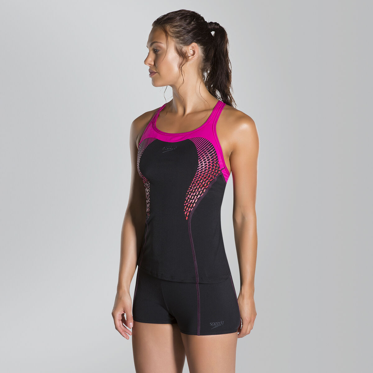 Speedo Fit Tankini Kickback Swimsuit