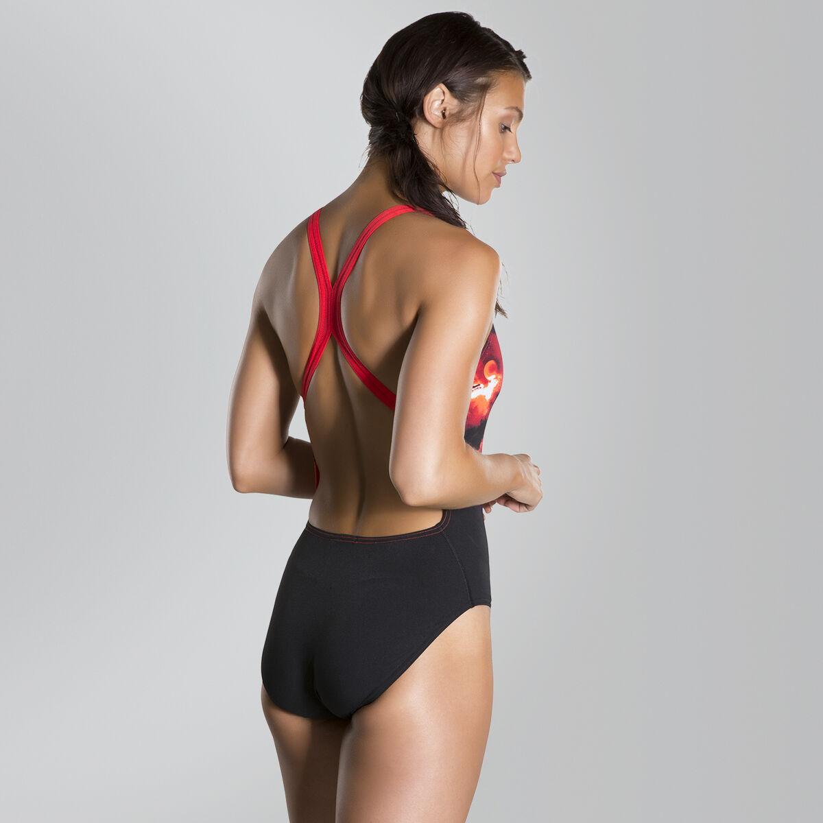 Spacedust Placement Digital Powerback Swimsuit