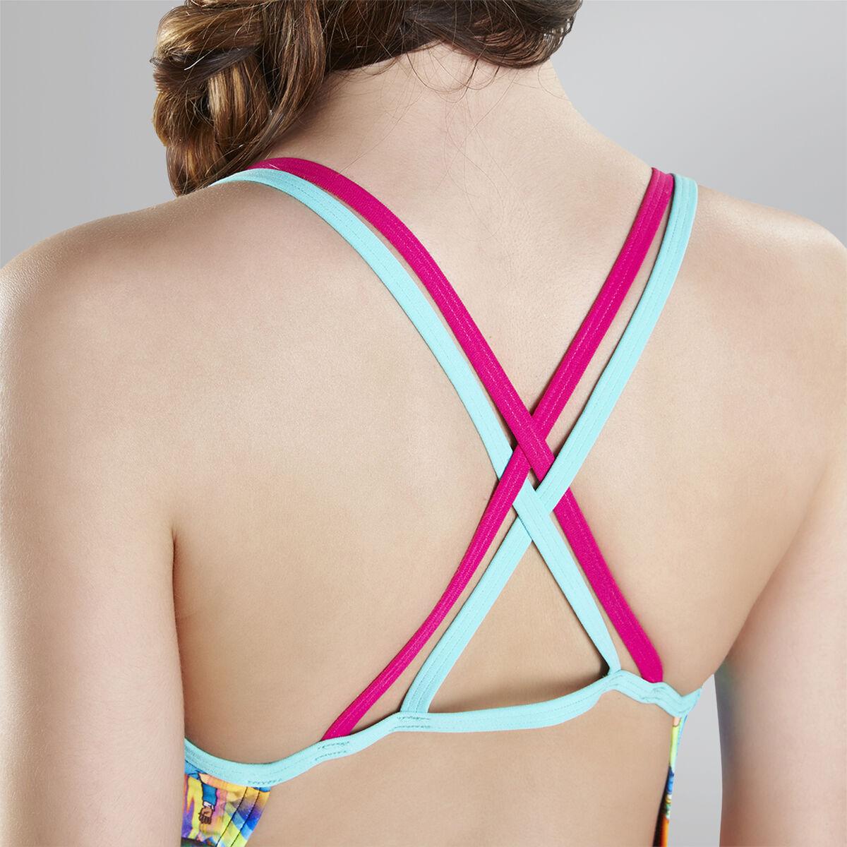 Flipturns Glow Ball Double Crossback Swimsuit