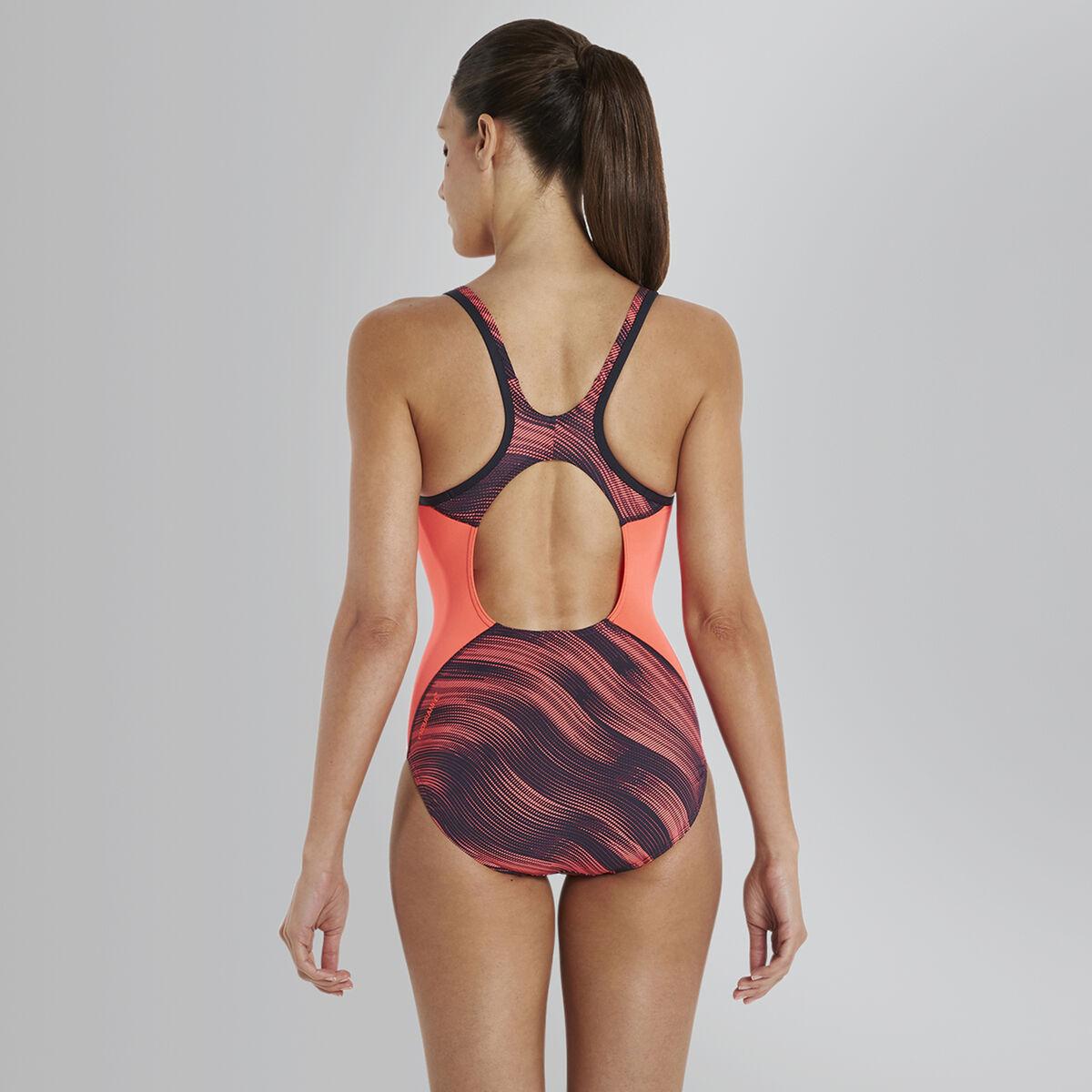 Speedo Fit Splice Allover Muscleback Swimsuit