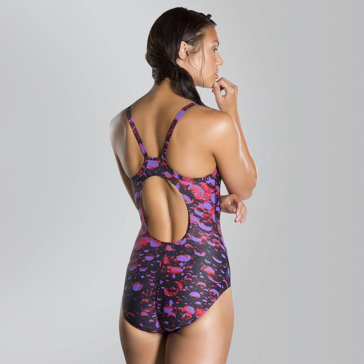 Microcosmos Placement Thinstrap Muscleback Swimsuit