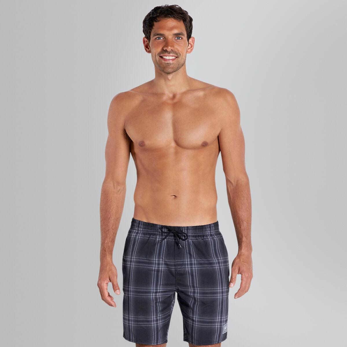"Checked Leisure 18"" Swim Short"