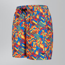 "Clash Block Printed Leisure 15"" Swim Shorts"